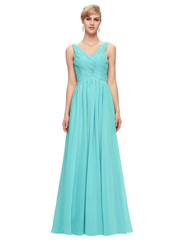 Aqua Bridesmaid Dress Blush Pink Red Purple Mint Green - FabFunBride