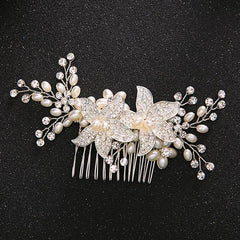 Pearl Floral Hair Combs - FabFunBride