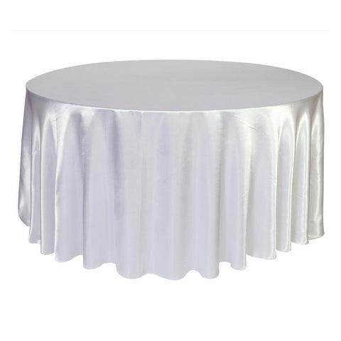 Round Table Cloth Tablecloth Luxury Satin Table Cover Wedding Decor - FabFunBride