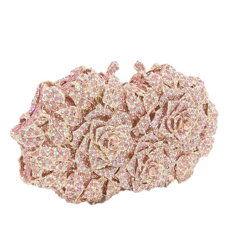 Flower Rose Gold Clutch - FabFunBride