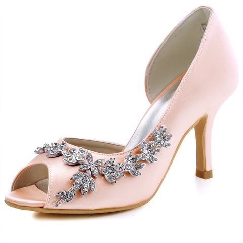 Peep Toe Bridal Shoes Bridal Party shoes - FabFunBride