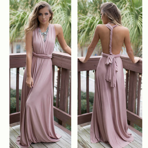 Infinity Wrap Dress Floor Length - FabFunBride