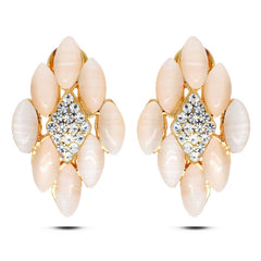 Gold Crystal Opal Earrings - FabFunBride