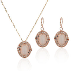 Rose Gold Opal Cubic Set - FabFunBride