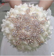 Bouquet crystal Ivory Rose Gold - FabFunBride