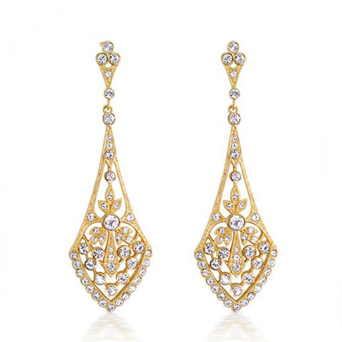 Shining Golden Cubic Earrings - FabFunBride
