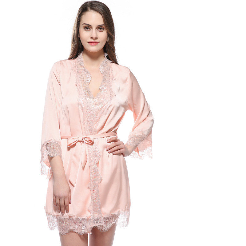 Lace Trim Robes - FabFunBride