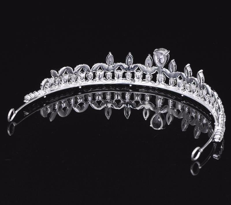 Bridal Hair Accessories Cubic Zirconia Tiaras Crown for - FabFunBride