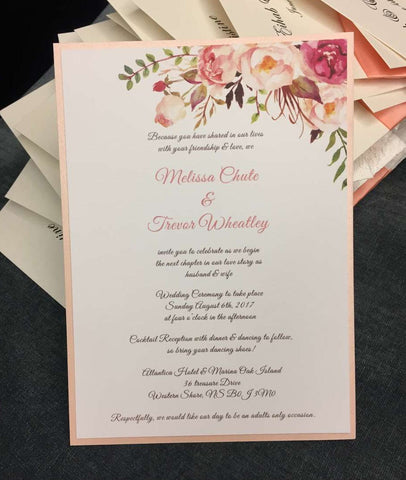 Jules Floral Wedding Invitation, RSVP, Details Card - FabFunBride