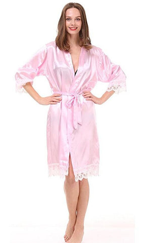Lace Satin Bridesmaids Robes - FabFunBride