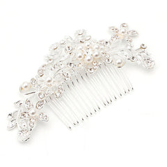 Stunning pearl and crystal Haircomb - FabFunBride