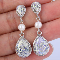 Perugia Pearl Drop Earrings - FabFunBride