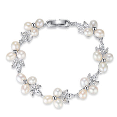 Luxury Classic Natural Pearls Bracelet - FabFunBride