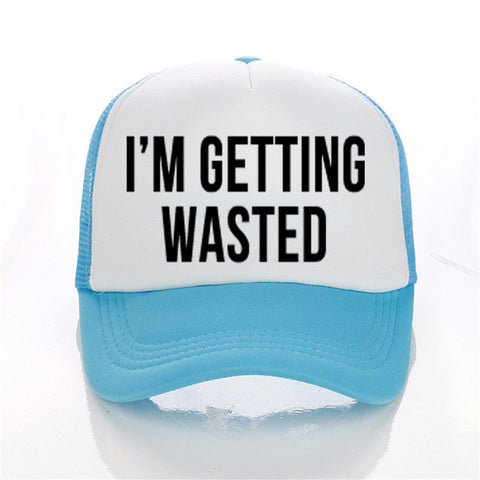 I 'M GETTING MARRED WASTED Print Trucker Caps Bachelorette Wedding Snapback MANY COLOURS - FabFunBride