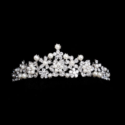 Luxury Simulated-pearl Rhinestone Hair Crown & Tiara Wedding - FabFunBride