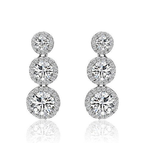 Round Zircon Earrings - FabFunBride