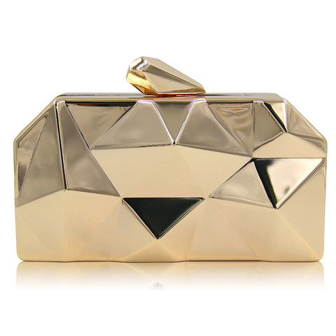 Geometric 3D Metal Evening clutch - FabFunBride