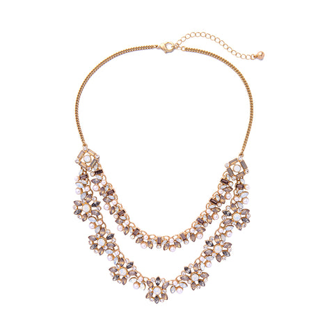 Statement Necklace Blush Floral - FabFunBride
