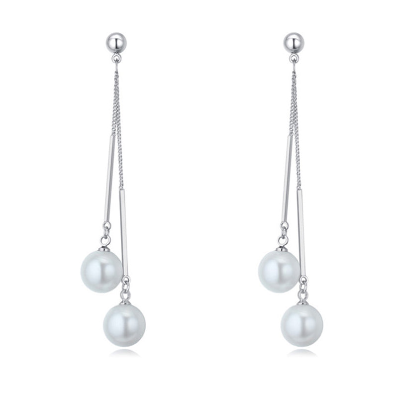 Long Pearl Earrings - FabFunBride