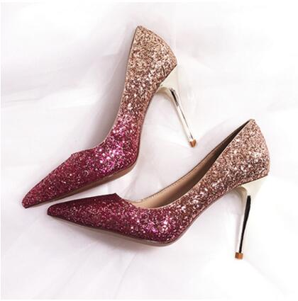 Wedding dress shoes Rose Gold - FabFunBride