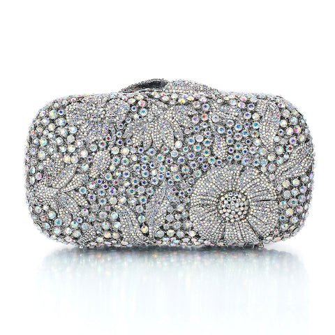 Silver Clutch luxe Crystal - FabFunBride