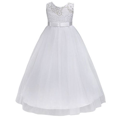 Navy Blue Lace Flower Girl Dresses Tulle 3 Colours - FabFunBride