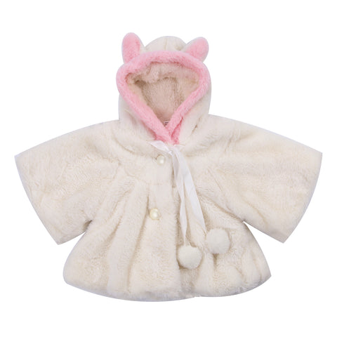 Winter Newborn Kids Baby Girl Fur Coat Cloak Jacket Flower Girl - FabFunBride