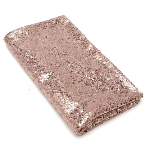 127*127cm Sparkle Glitter Rose Gold Sequin Tablecloth Shimmer Fabric Tablecloth Wedding/Event/Banquet Decoration - FabFunBride