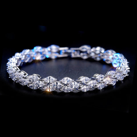 Luxury White Gold Plated Zircon - FabFunBride
