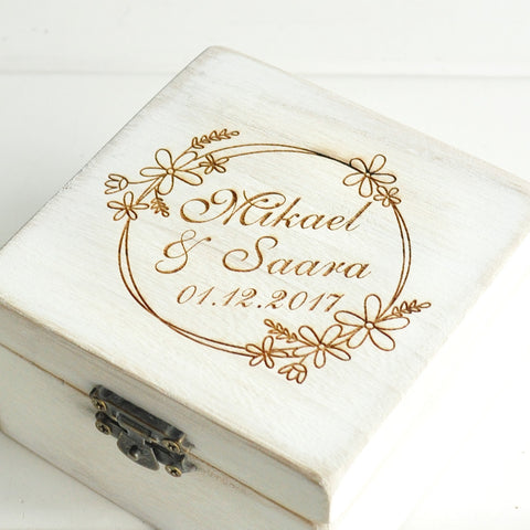 Cremona Vintage White Custom Ring Box - FabFunBride