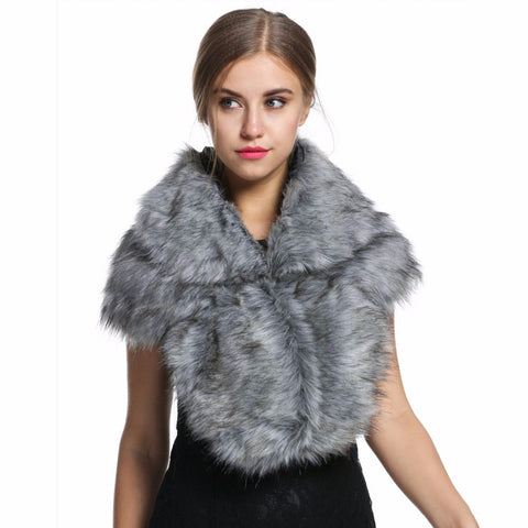 Faux Fur Shawl Shrug Warm 7+ colours - FabFunBride
