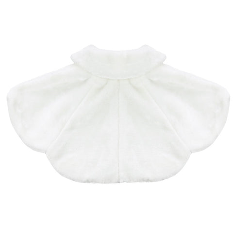 2-8Y Flower Girls Jacket Girl Faux Fur Wraps - FabFunBride