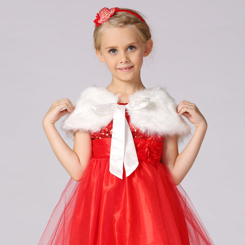 Flower Girls Bolero Faux Fur Shrug - FabFunBride
