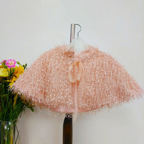 Children Shawl Faux Fur Bolero Shrug - FabFunBride