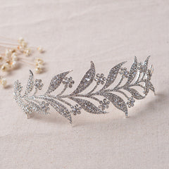 Rose Gold Silver Bridal Hair Crown - FabFunBride