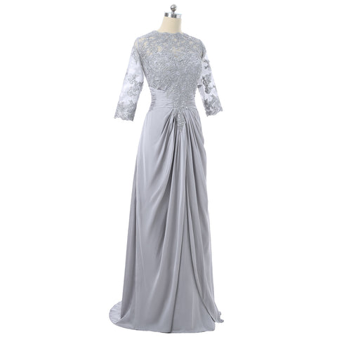Mother Of The Bride Dresses A-line Satin Lace With Jacket Plus Size Groom - FabFunBride