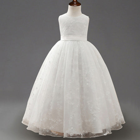 Cute Ball Gown Lace Flower Girl Dresses Sleeveless - FabFunBride