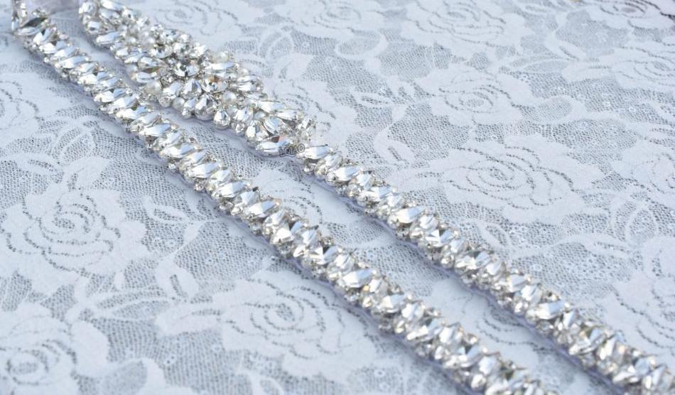 Wedding Bridal Sash Crystal - FabFunBride