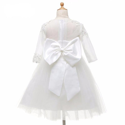 Flower Girl Dress With Bow - FabFunBride