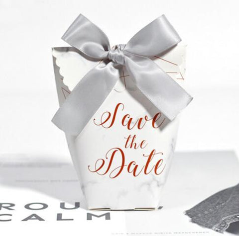 'Save the Date' Box/Bag 50 pcs - FabFunBride