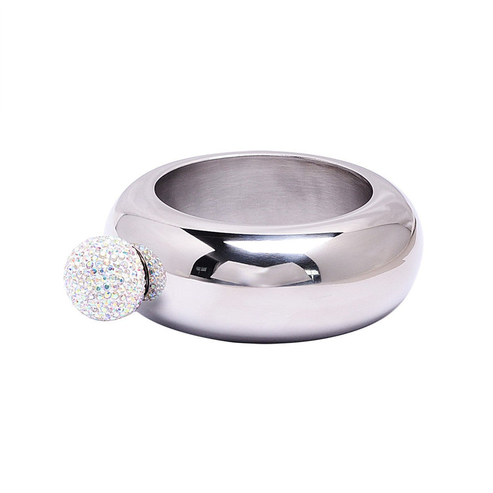 Crystal Lid Bangle Flask - FabFunBride