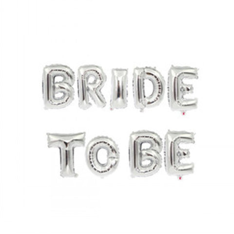 "16"" Bride to Be Set (Silver, Gold, Rose Gold) - FabFunBride"