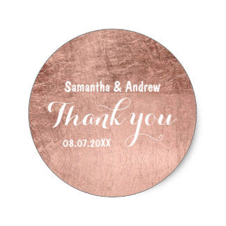 Rose Gold Leaf Sticker - FabFunBride