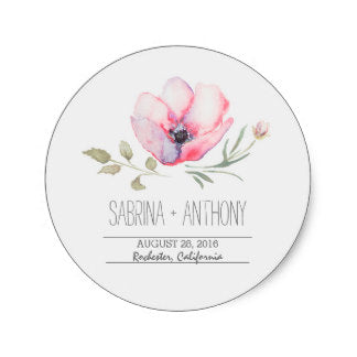 Floral Watercolor Sticker 500 pcs - FabFunBride