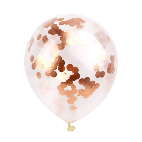 "5pcs 12"" Rose Gold Confetti Balloon - FabFunBride"
