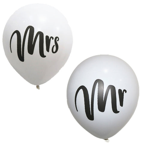 "10"" Mr Mrs Balloon - FabFunBride"