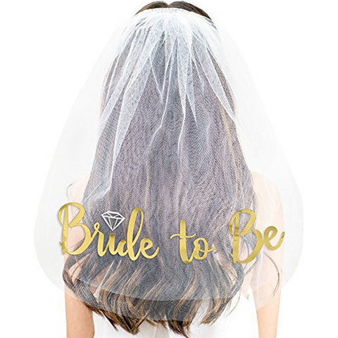 Gold Bride to Be Veil - FabFunBride