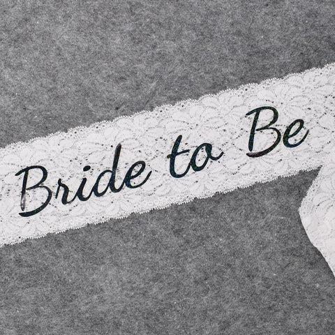 Bride To Be Lace Sash - FabFunBride
