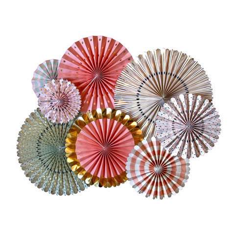 8 Piece Set Fan DIY Decor - FabFunBride