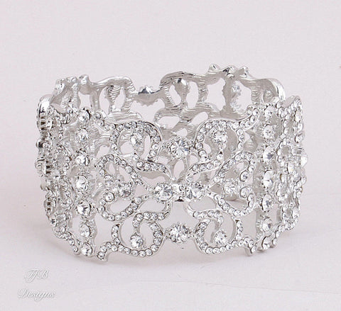 Luxurious Wide Bracelet Cuff Best Selling Design - FabFunBride